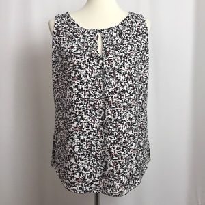 White House Black Market Abstract Sleeveless Top L